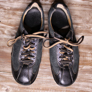 NEW Born Lace Up Black Leather Oxford Sneakers